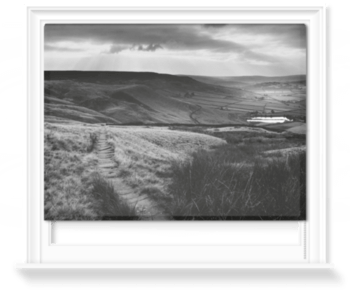 'Path and Reservoir above Lumbutts' Roller Blind