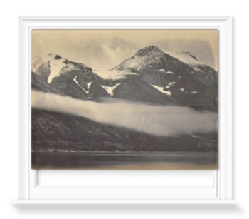 'Kunak Mountain with a fog bank' Roller Blind