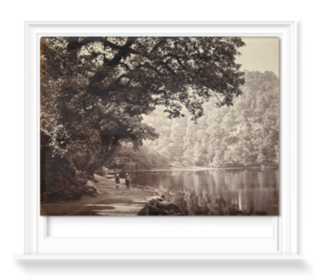 'The south end of the lake, Naini Tal' Roller Blind