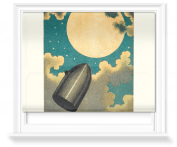 'The projectile passing the Moon' Roller Blind