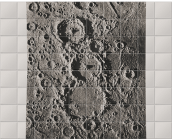 'Craters on the Moon' Ceramic Tile Mural