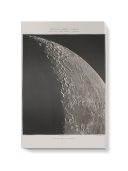 'The Moon with Schickhard and Gassendi craters' Canvas Wall Art
