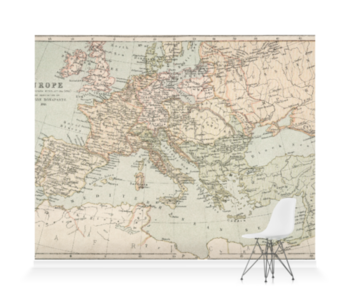 'A map of Napoleonic Europe' Wallpaper Mural