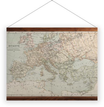 'A map of Napoleonic Europe' Wall Hanging