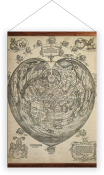 'World map, 1530' Wall Hanging