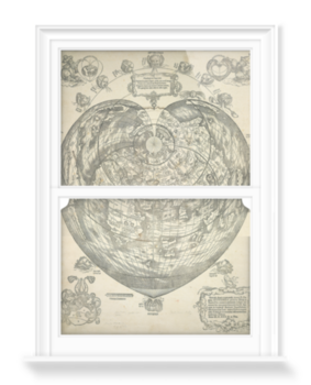 'World map, 1530' Decorative Window Film