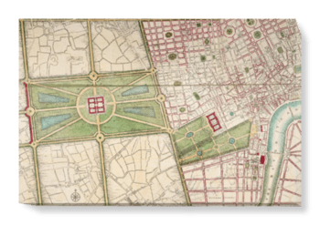 'A plan of Hyde Park, 1766' Canvas Wall Art