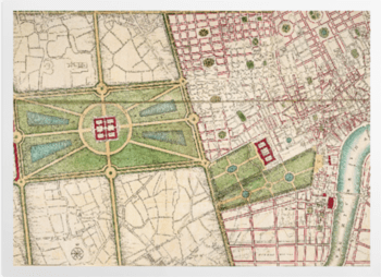 'A plan of Hyde Park, 1766' Art Prints