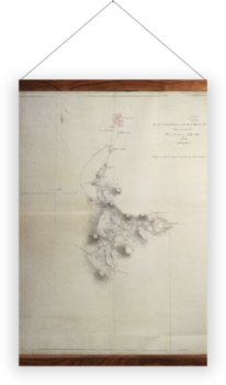 'Map of the New Military Road' Wall Hanging
