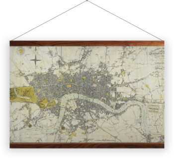 'London in miniature with the surrounding villages' Wall Hanging