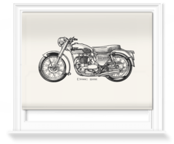 'White Motorcycle' Roller Blind