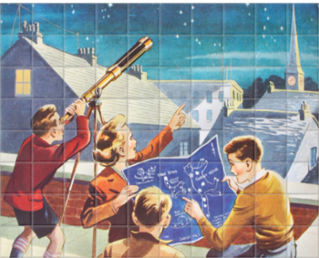 'Look at the Stars!' Ceramic Tile Mural