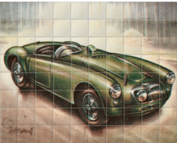 'MG 1955' Ceramic Tile Mural