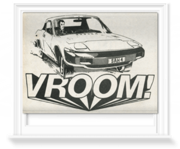 'Vroom!' Roller Blind
