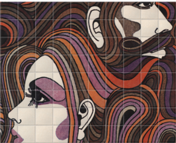 'ë70s Hair' Ceramic Tile Mural