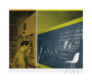 'Yellow Design 1958' Wallpaper Mural