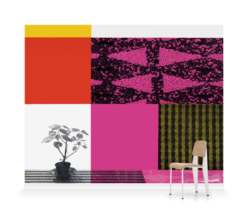 'Pink Design 1956' Wallpaper Mural