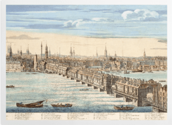'Panorama of London and the River Thames' Art Prints