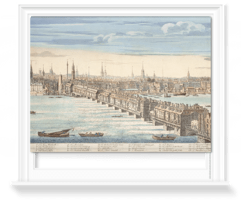 'Panorama of London and the River Thames' Roller Blind