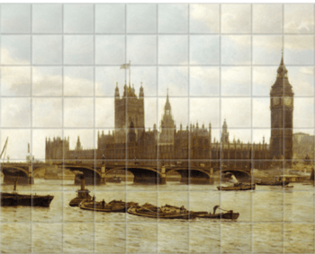 'Westminster Bridge' Ceramic Tile Mural