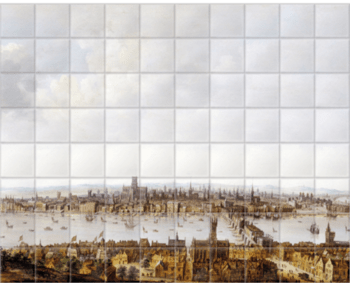 'London from Southwark' Ceramic Tile Mural