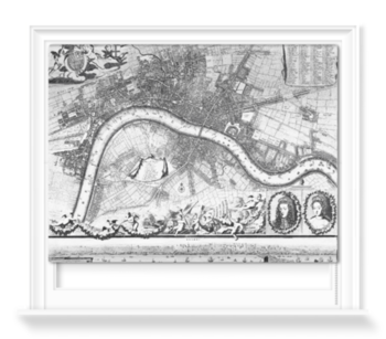 'Jacobus de la Feuille Map of Westminster' Roller Blind