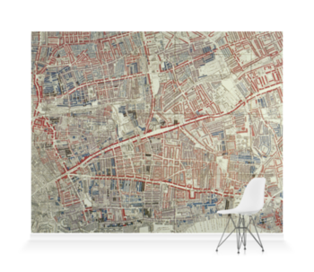 'London Poverty Map of Hoxton' Wallpaper murals
