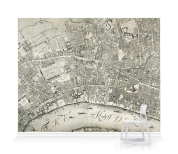'A Prospect of London and Westminster' Wallpaper Mural