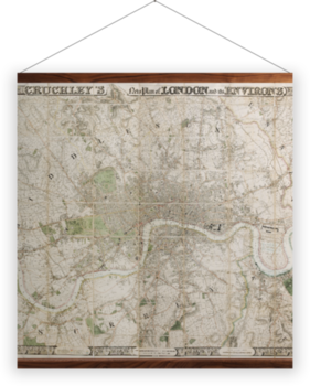 'Cruchley's New Plan of London' Wall Hanging