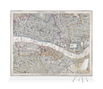 'Stanford's Library Map of London' Wallpaper Mural
