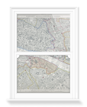 'Stanford's Library Map of London' Decorative Window Film
