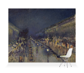 'The Boulevard Montmartre at Night' Wallpaper Mural