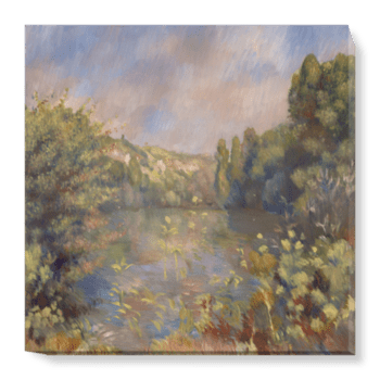 'Lakeside Landscape' Canvas Wall Art