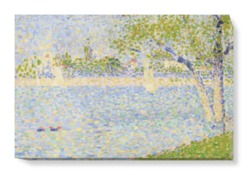'The Seine seen from La Grande Jatte' Canvas Wall Art