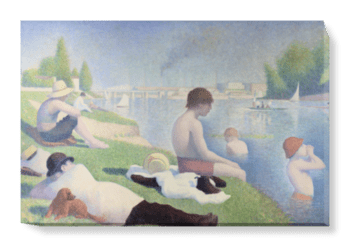 'Bathers at Asnieres' Canvas Wall Art