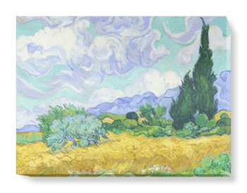'A Wheatfield with Cypresse' Canvas Wall Art