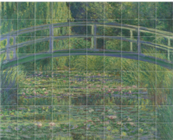 'The Water-Lily Pond' Ceramic Tile Mural