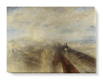 'Rain, Steam, and Speed - The Great Western Railway' Canvas Wall Art