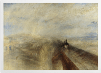 'Rain, Steam, and Speed - The Great Western Railway' Art Prints