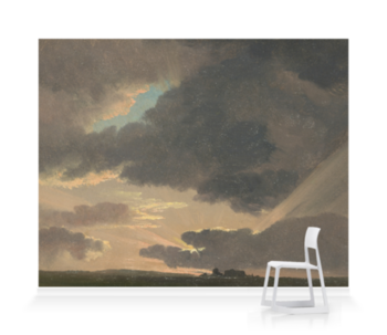 'Sunset in the Roman Campagna' Wallpaper Mural