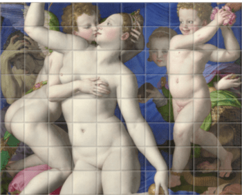 'An Allegory with Venus and Cupid' Ceramic Tile Mural