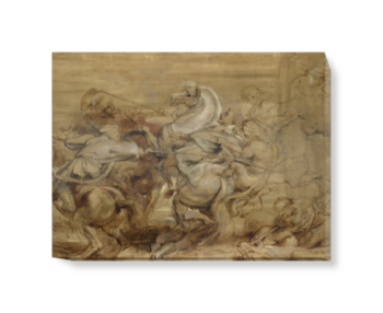 'A Lion Hunt' Canvas Wall Art