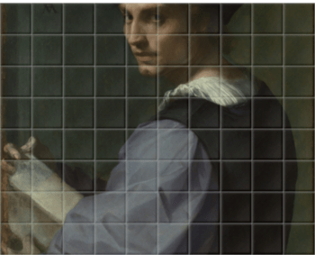 'Portrait of a Young Man' Ceramic Tile Mural