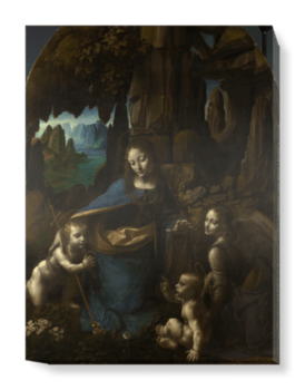 'The Virgin of the Rocks' Canvas Wall Art