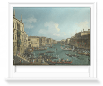 'Venice: A Regatta on the Grand Canal' Roller Blind