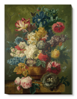 'Flowers in a Vase I' Canvas Wall Art