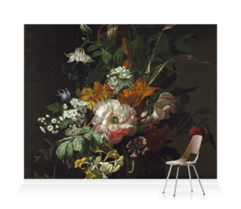 'Flowers in a Vase II' Wallpaper Mural