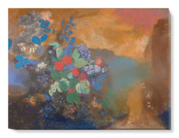 'Ophelia among the Flowers' Canvas Wall Art