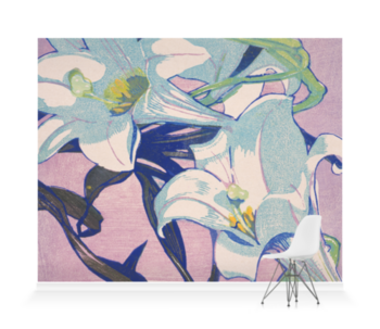 'White Lilies' Wallpaper Mural