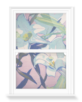 'White Lilies' Decorative Window Film